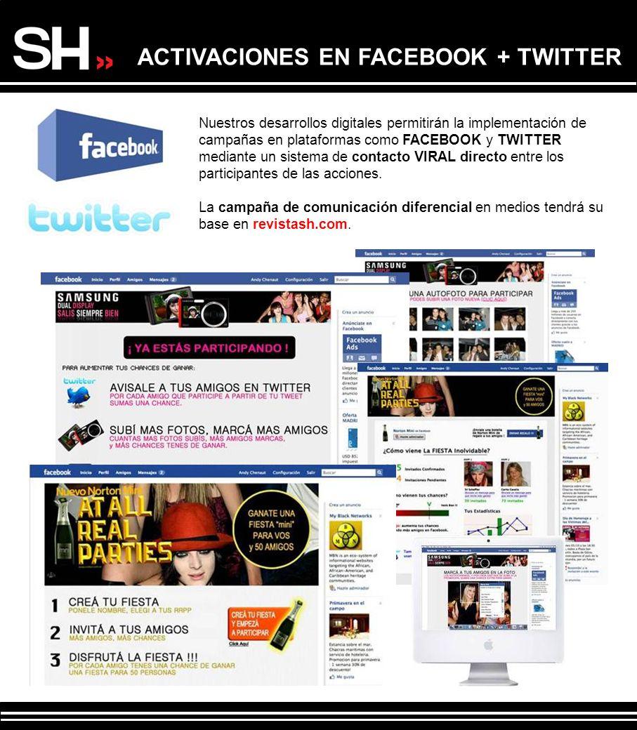 ACTIVACIONES EN FACEBOOK + TWITTER