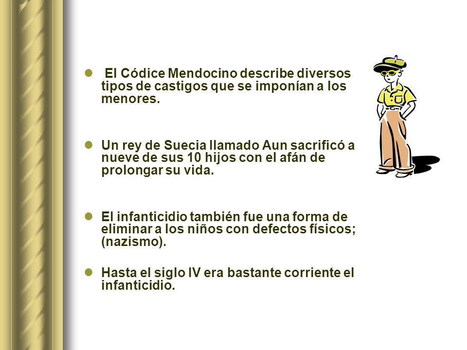 El Códice Mendocino describe diversos tipos de castigos que se imponían a los menores.