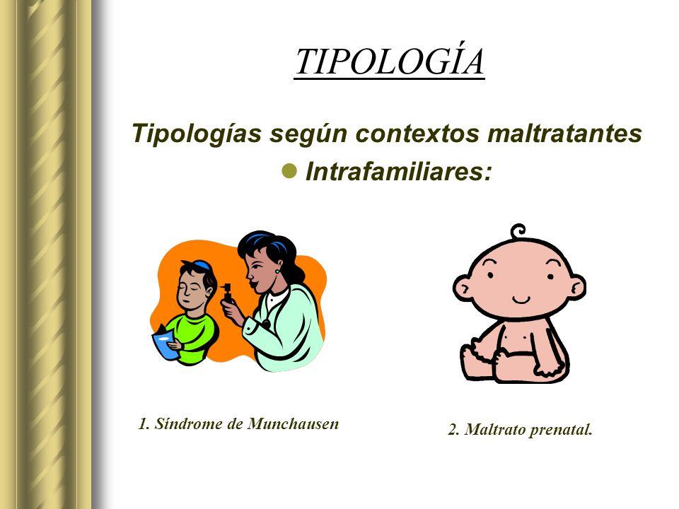 Tipologías según contextos maltratantes