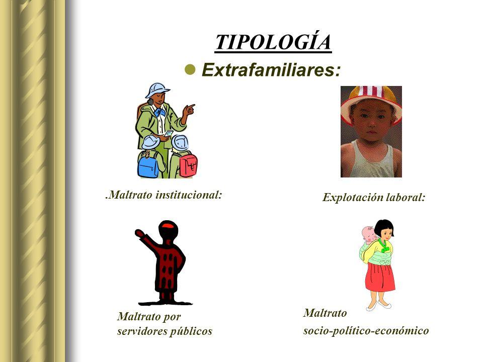 TIPOLOGÍA Extrafamiliares: .Maltrato institucional: