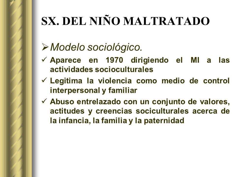 SX. DEL NIÑO MALTRATADO Modelo sociológico.