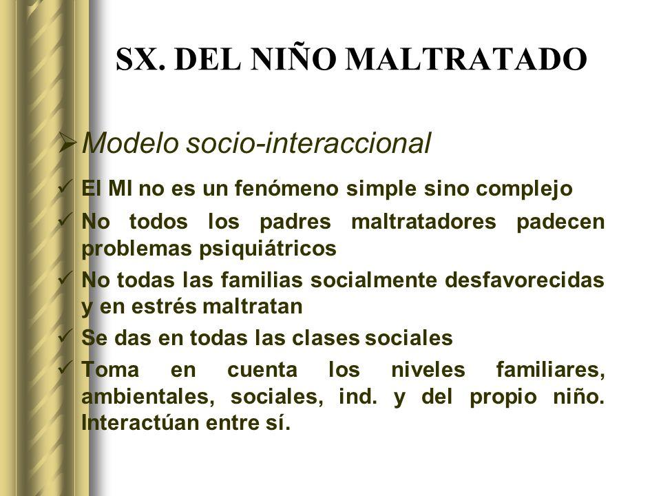 SX. DEL NIÑO MALTRATADO Modelo socio-interaccional