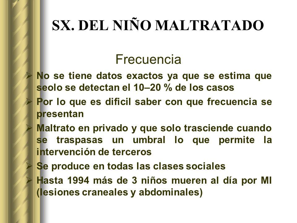 SX. DEL NIÑO MALTRATADO Frecuencia