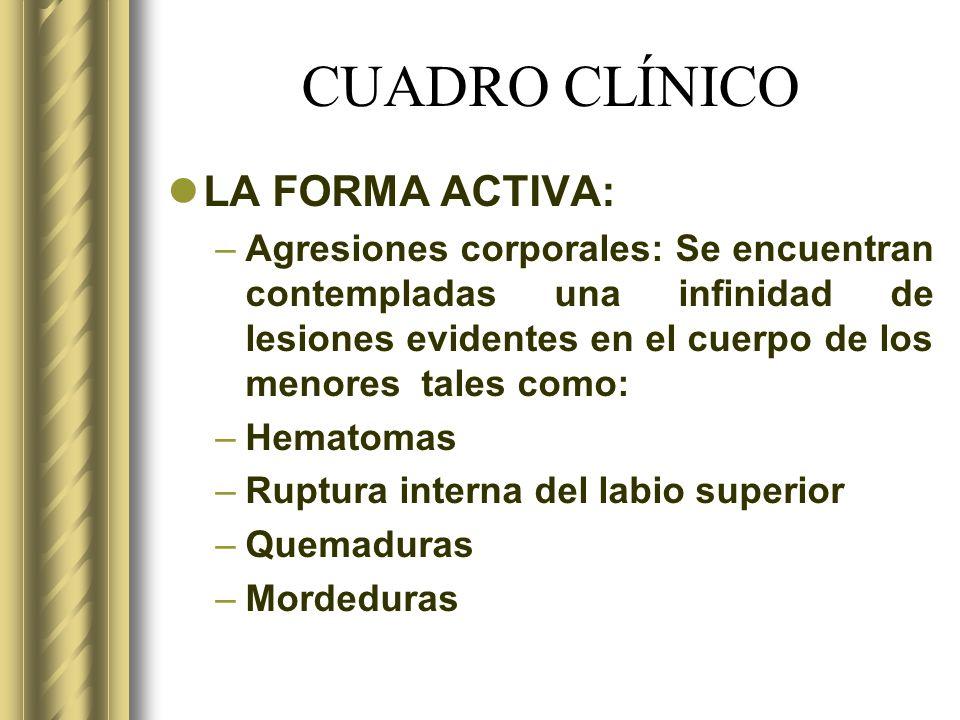 CUADRO CLÍNICO LA FORMA ACTIVA: