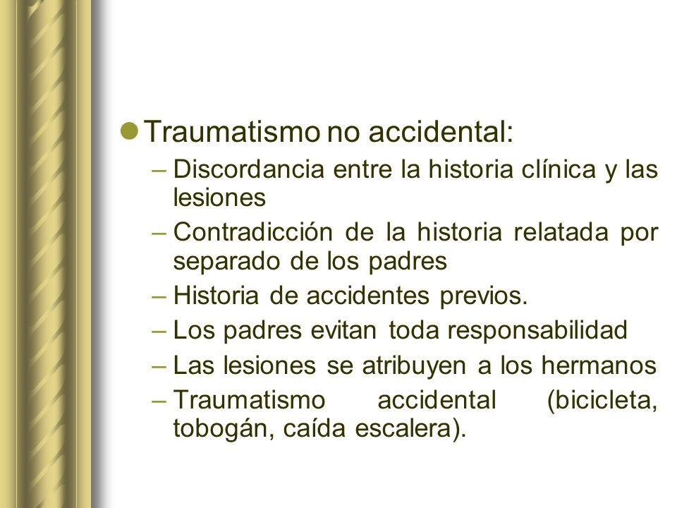 Traumatismo no accidental: