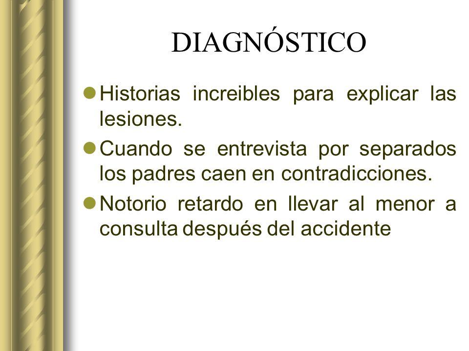 DIAGNÓSTICO Historias increibles para explicar las lesiones.