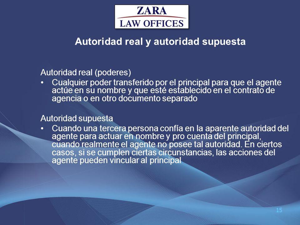 Autoridad real y autoridad supuesta