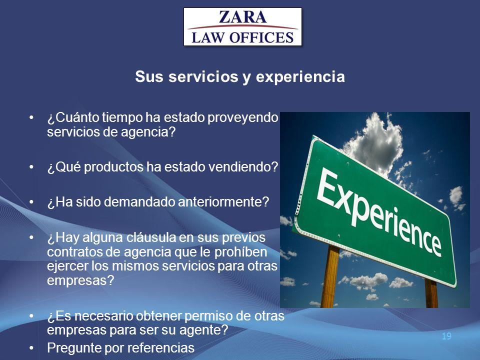 Sus servicios y experiencia