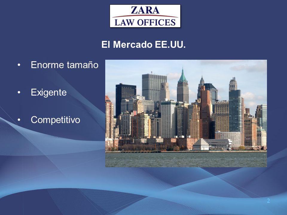 El Mercado EE.UU. Enorme tamaño Exigente Competitivo