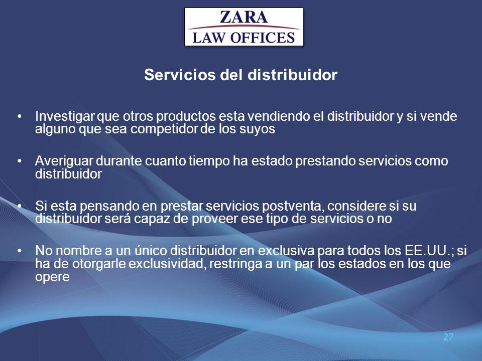 Servicios del distribuidor