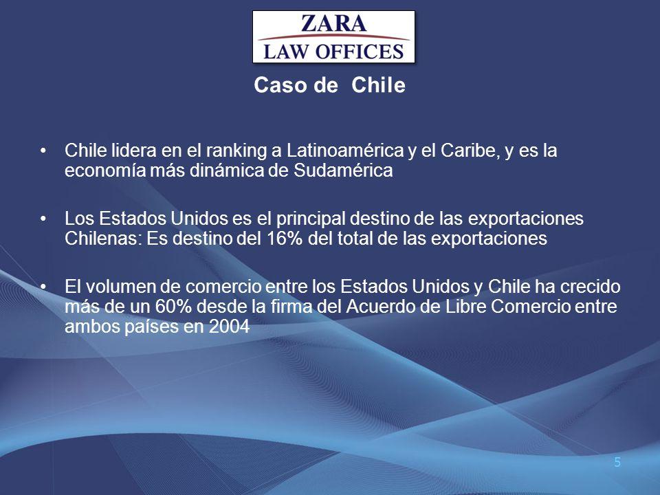 Caso de Chile Chile lidera en el ranking a Latinoamérica y el Caribe, y es la economía más dinámica de Sudamérica.