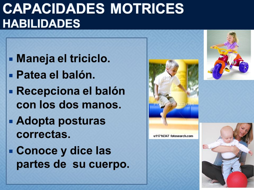 CAPACIDADES MOTRICES HABILIDADES