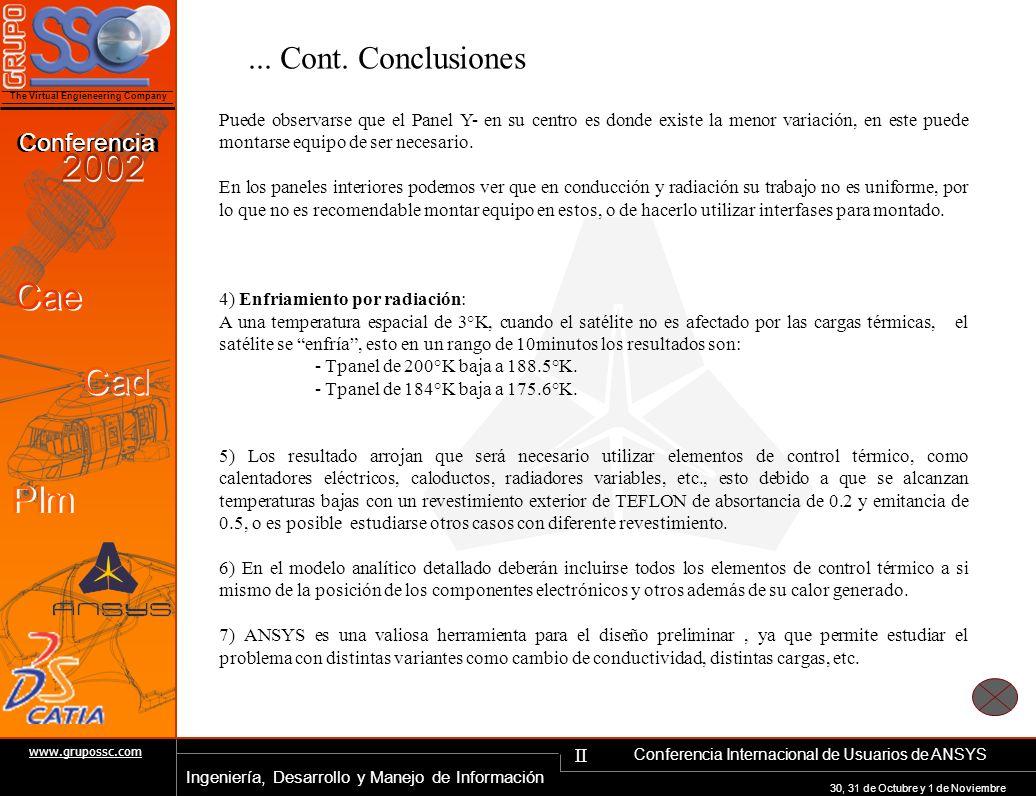 ... Cont. Conclusiones
