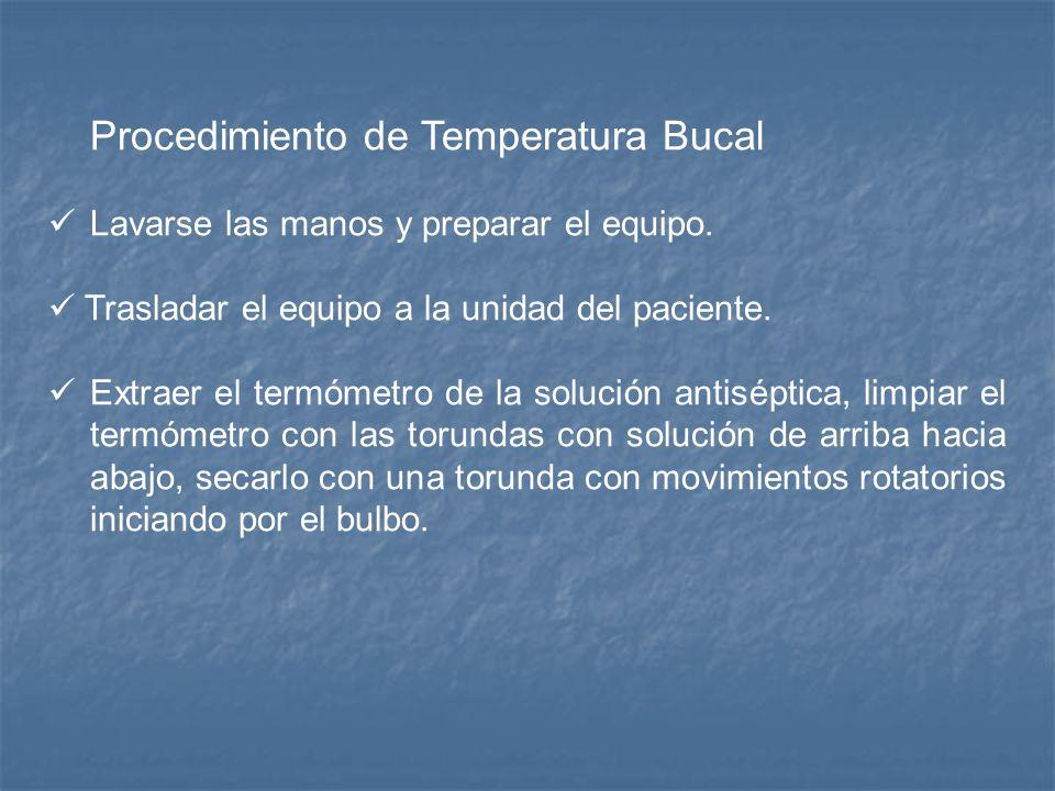 Procedimiento de Temperatura Bucal