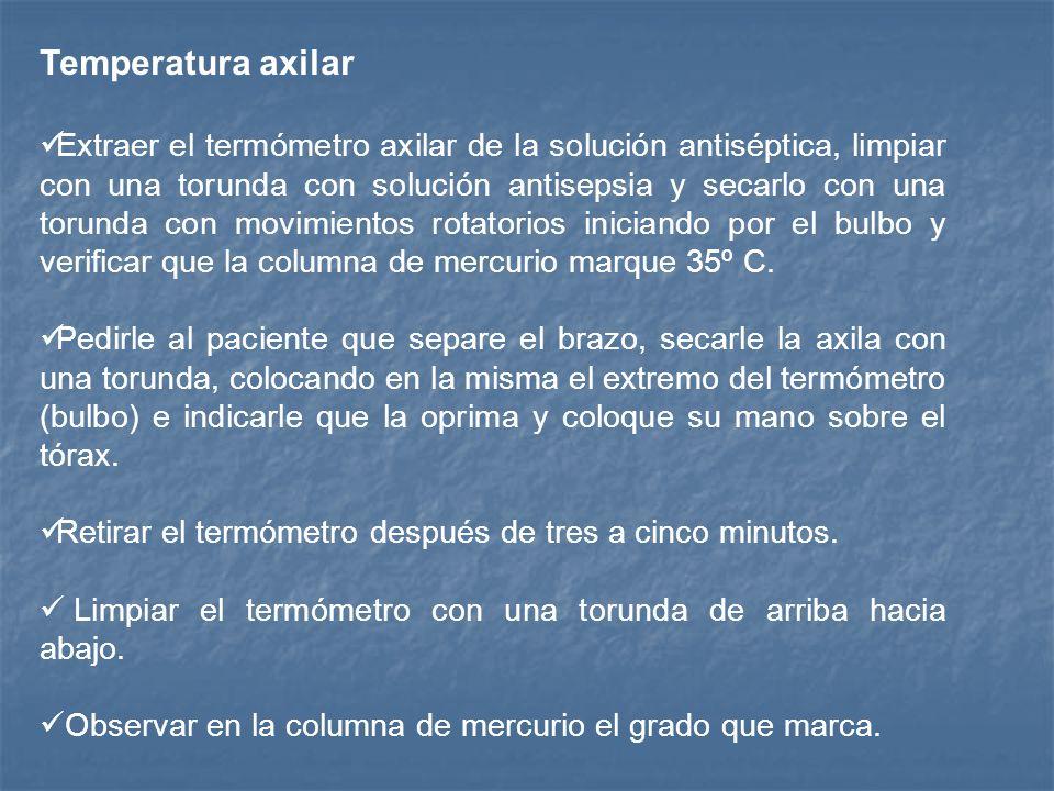 Temperatura axilar