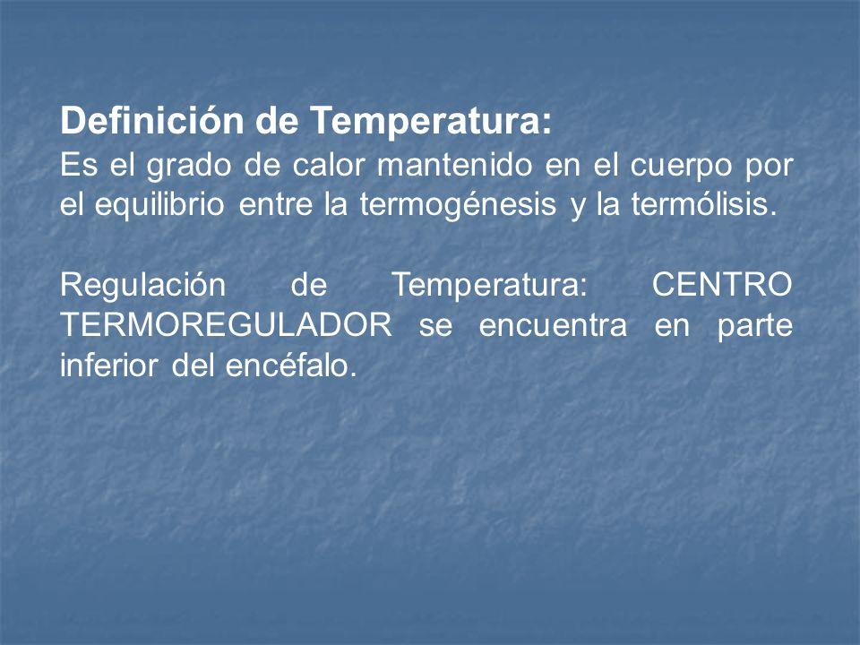 Definición de Temperatura:
