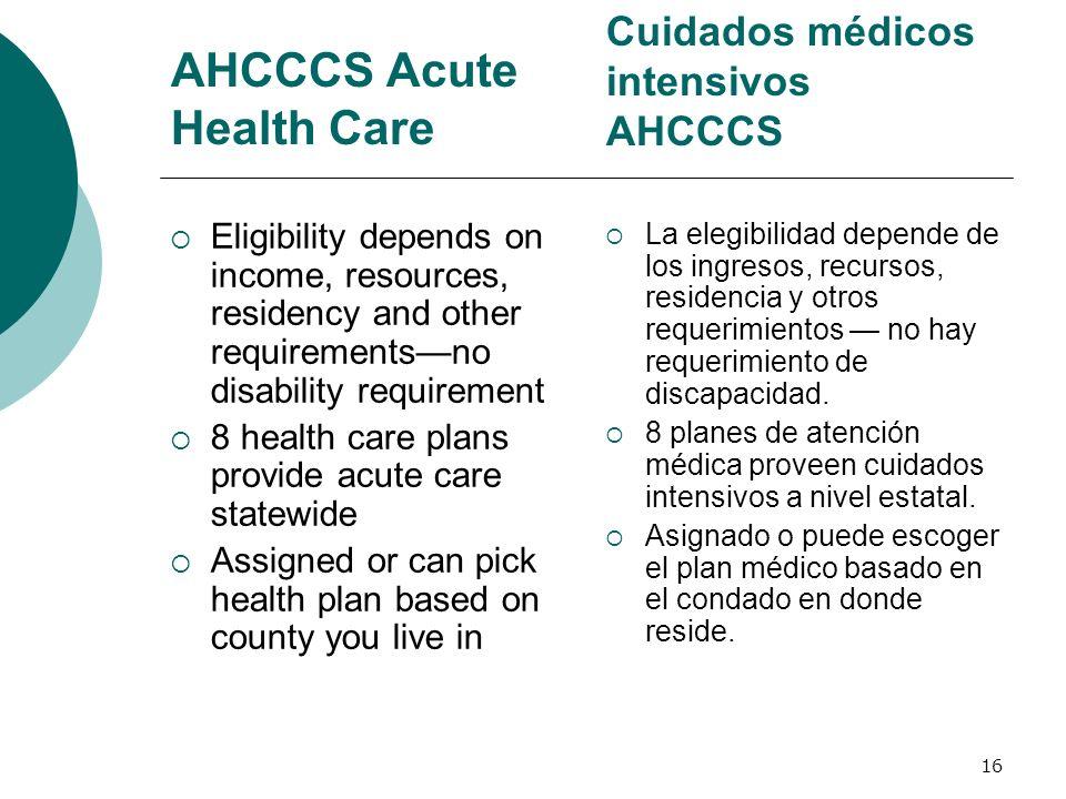 AHCCCS Acute Health Care