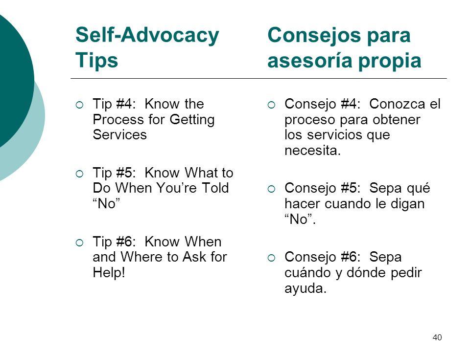 Consejos para asesoría propia
