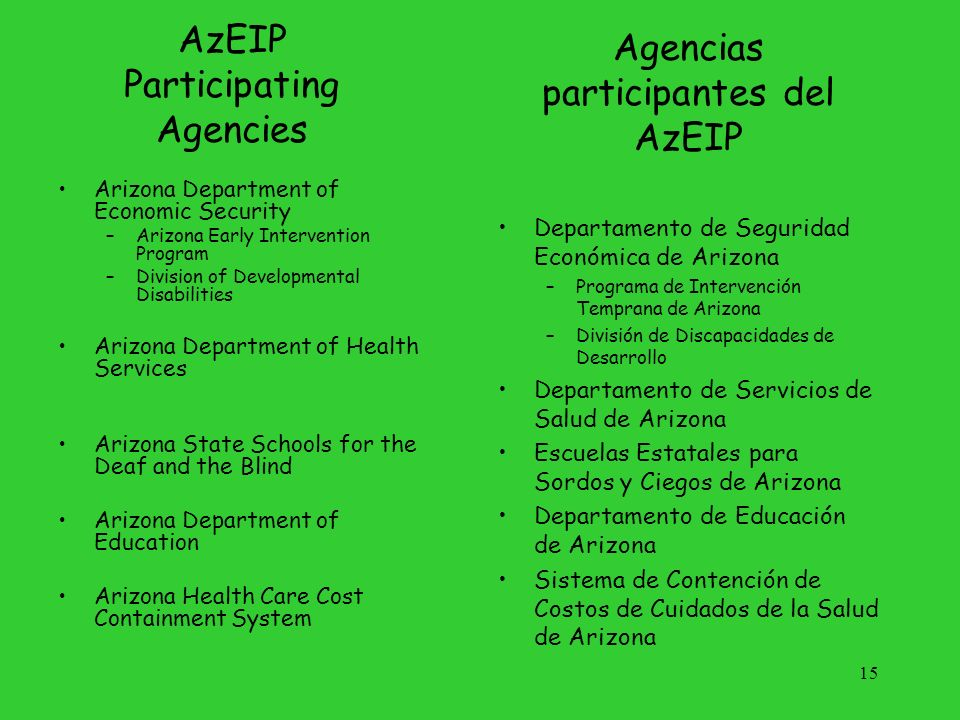 AzEIP Participating Agencies