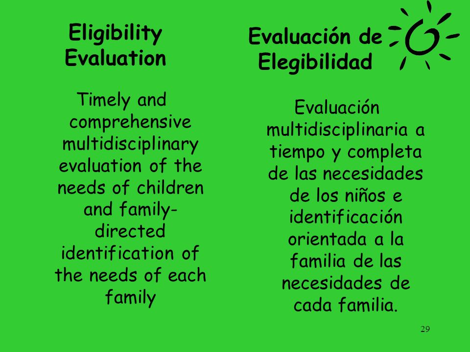 Eligibility Evaluation