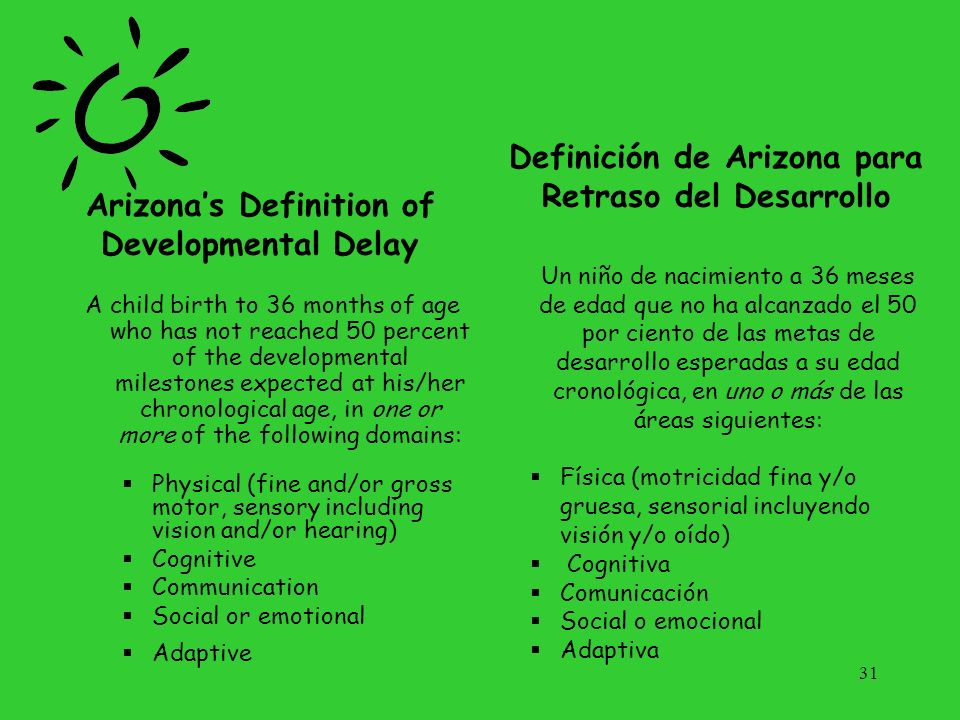 Arizona's Definition of Developmental Delay