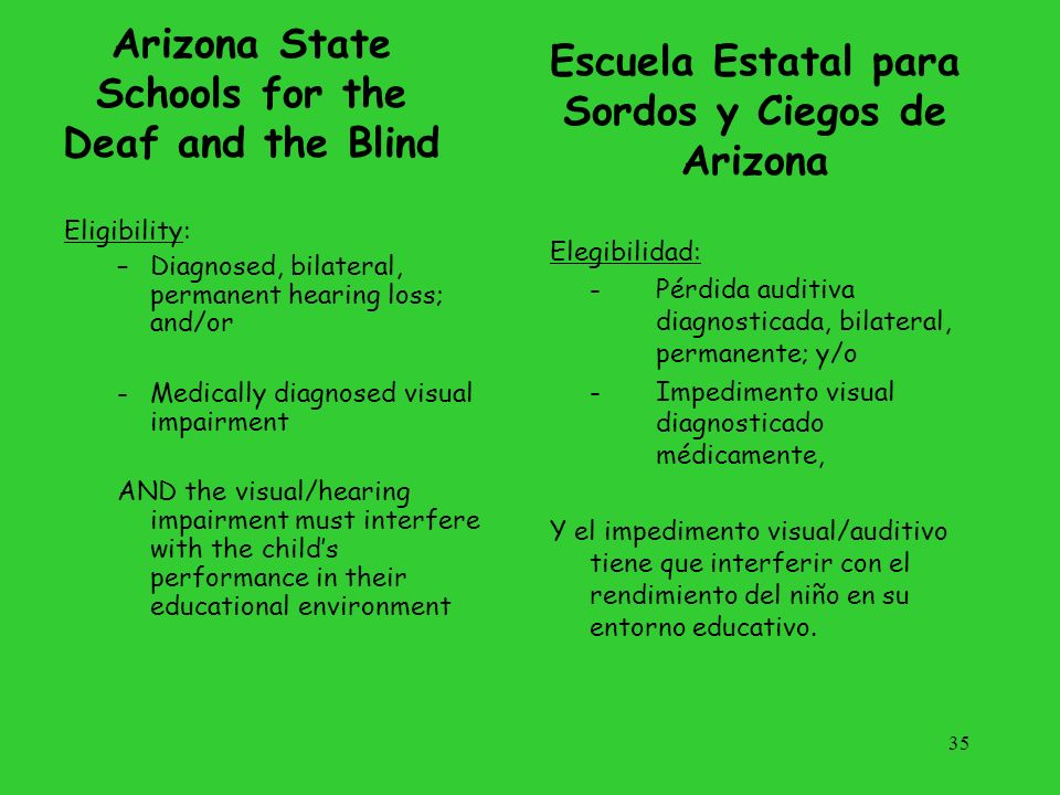 Arizona State Schools for the Deaf and the Blind