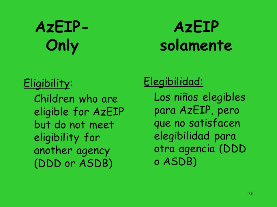 AzEIP-Only AzEIP solamente
