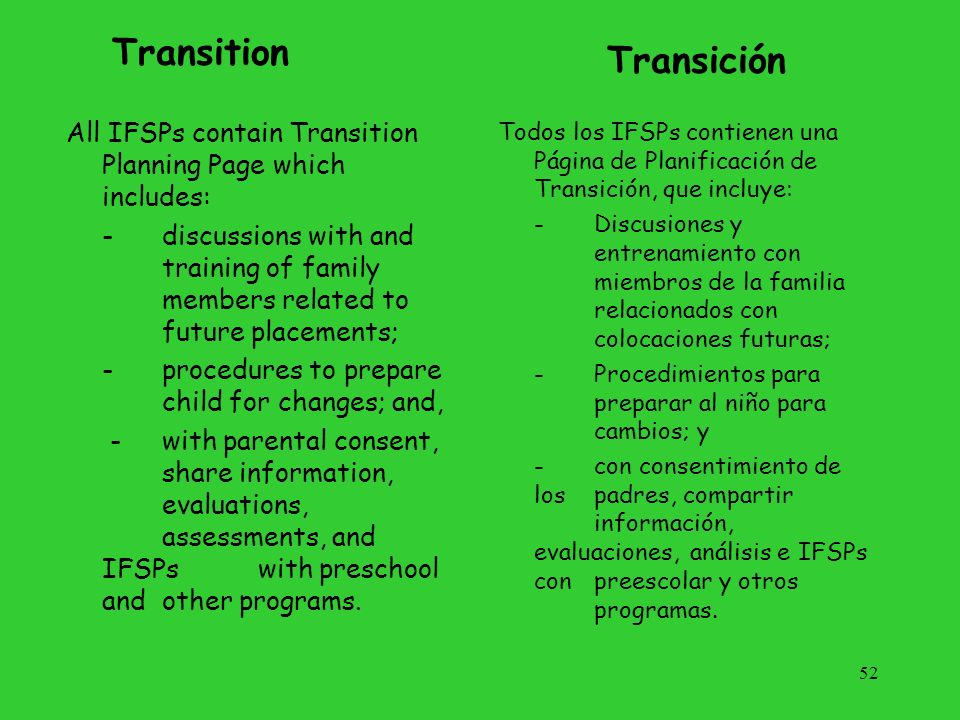 Transition Transición