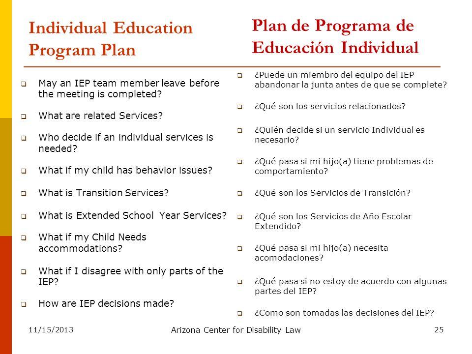 Individual Education Program Plan