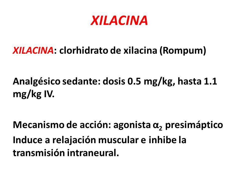 XILACINA XILACINA: clorhidrato de xilacina (Rompum)