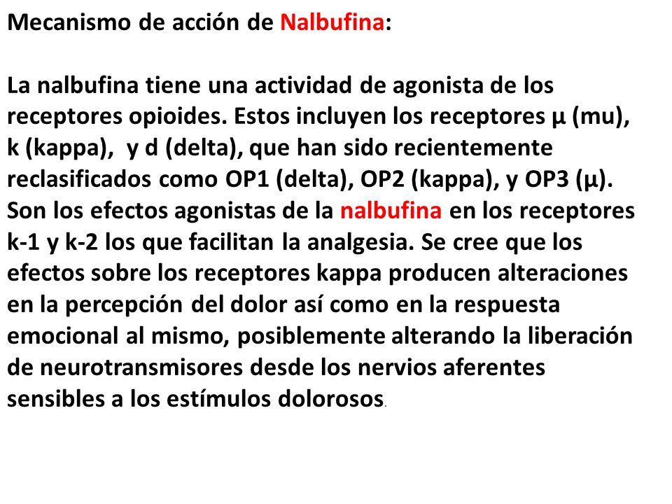 Mecanismo de acción de Nalbufina:
