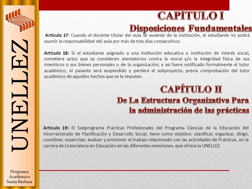 CAPÍTULO I Disposiciones Fundamentales CAPÍTULO II
