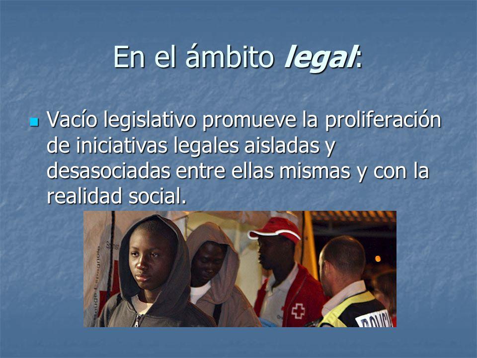 En el ámbito legal: