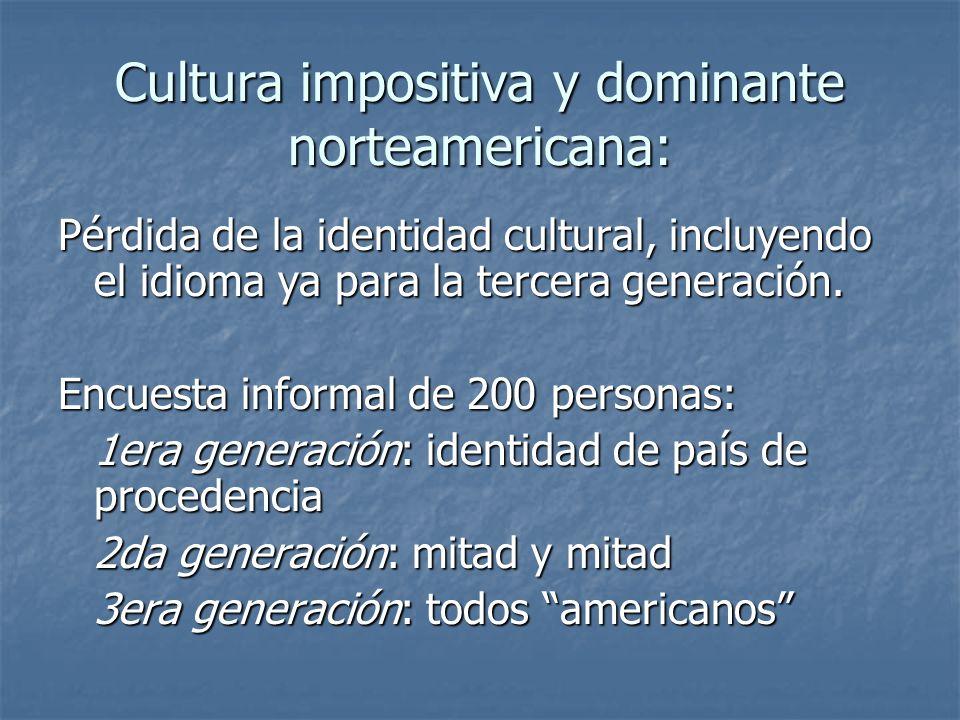 Cultura impositiva y dominante norteamericana: