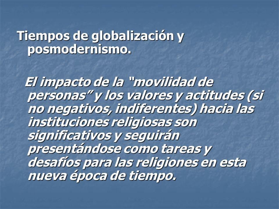 Tiempos de globalización y posmodernismo.