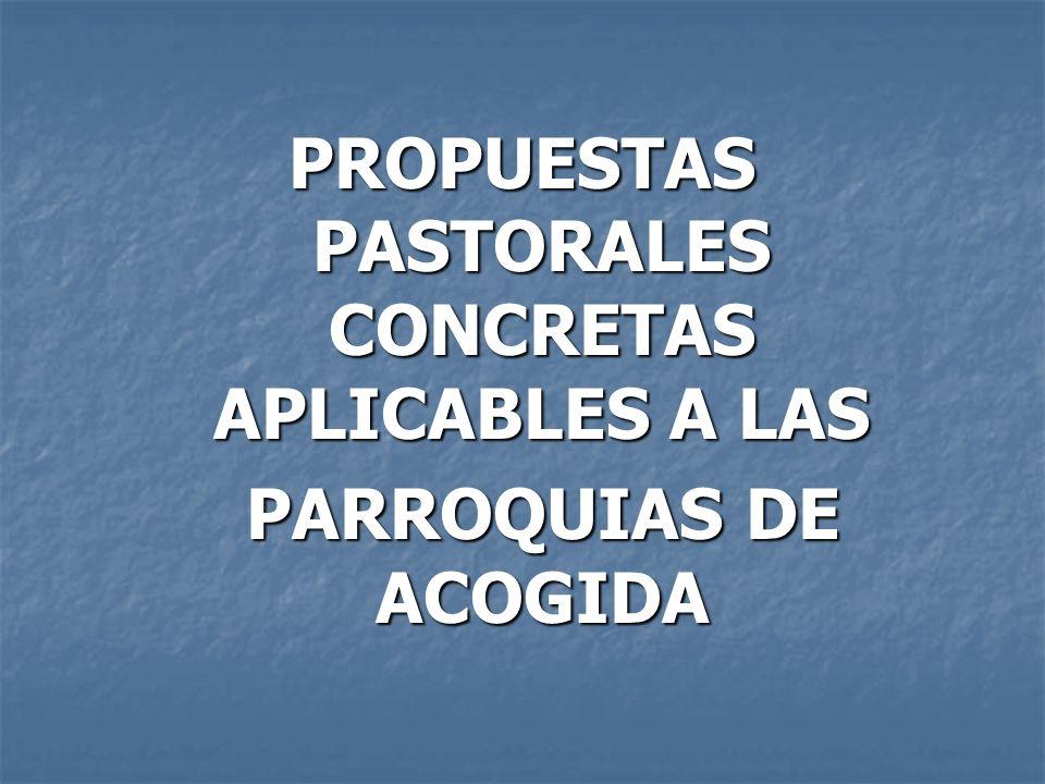 PROPUESTAS PASTORALES CONCRETAS APLICABLES A LAS