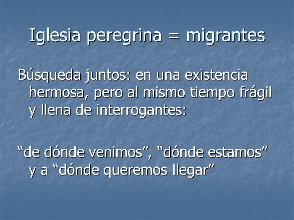 Iglesia peregrina = migrantes
