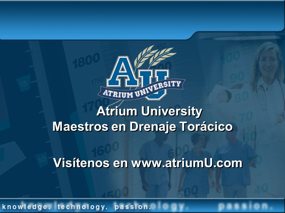 Atrium University Maestros en Drenaje Torácico