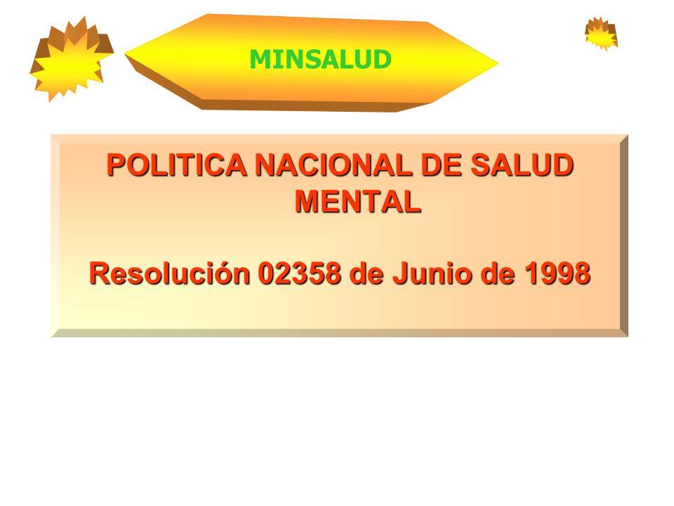 POLITICA NACIONAL DE SALUD MENTAL