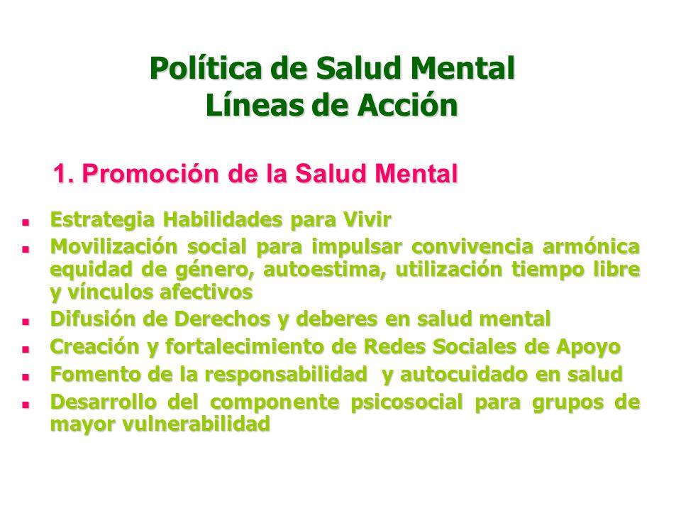 Política de Salud Mental