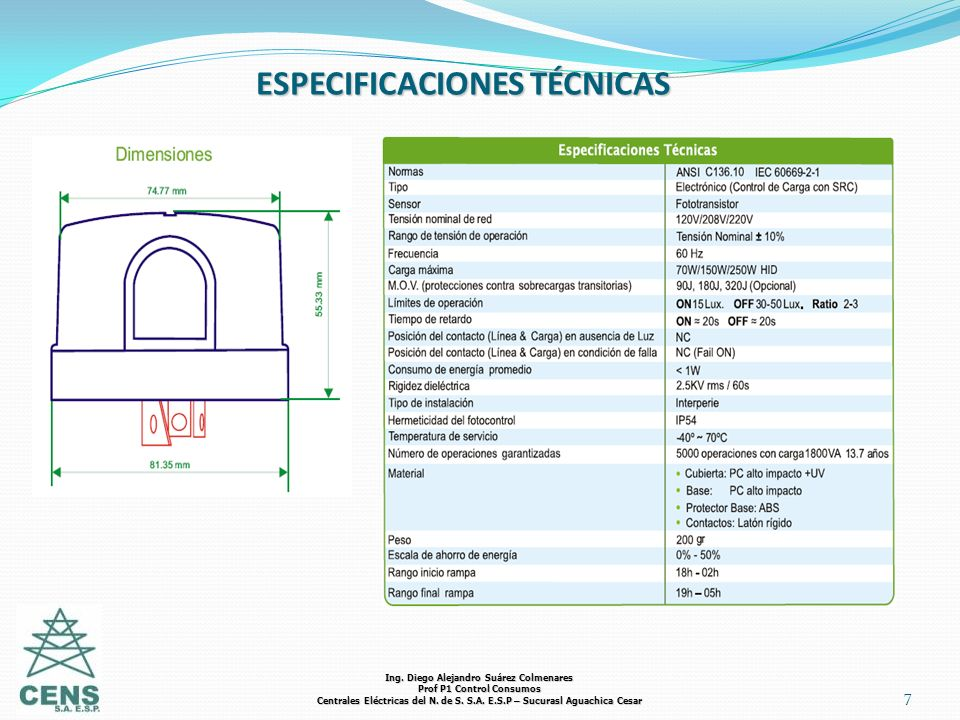 ESPECIFICACIONES TÉCNICAS