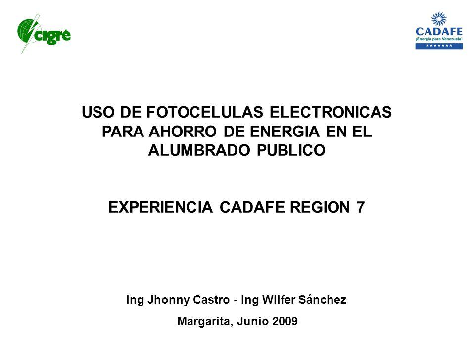EXPERIENCIA CADAFE REGION 7 Ing Jhonny Castro - Ing Wilfer Sánchez