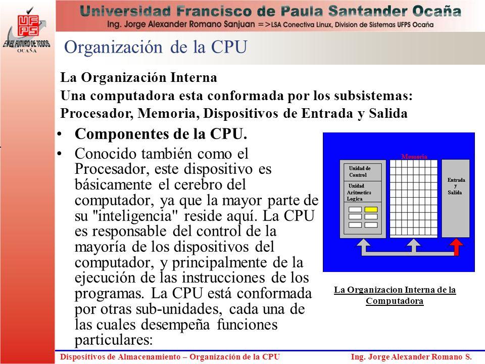 La Organizacion Interna de la Computadora