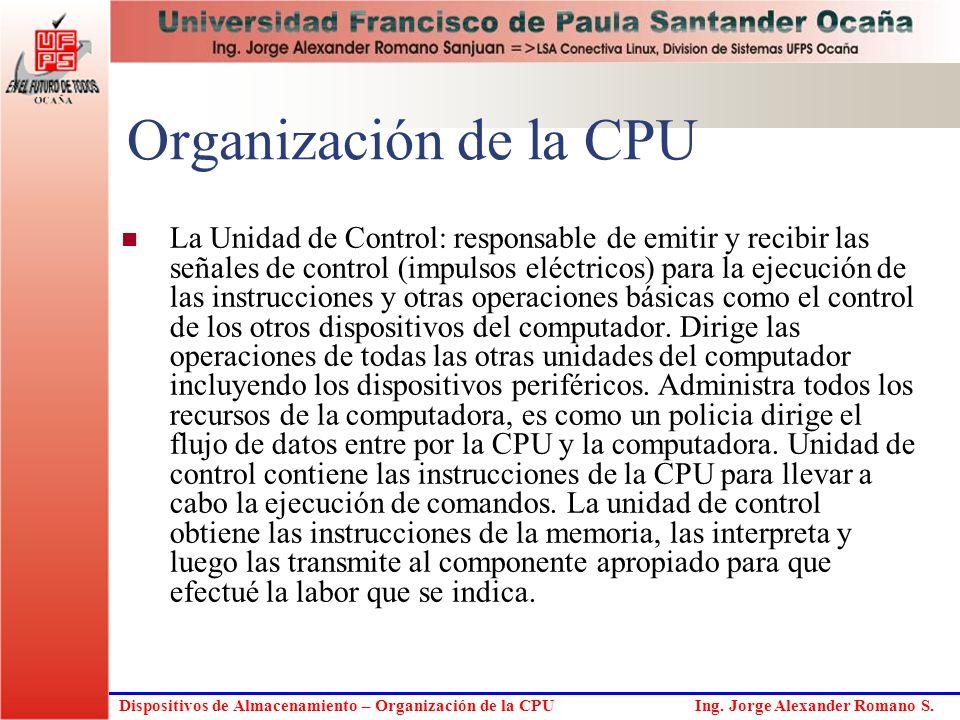 Organización de la CPU