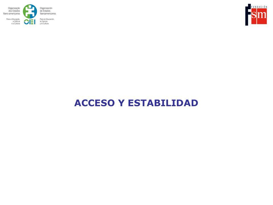 ACCESO Y ESTABILIDAD
