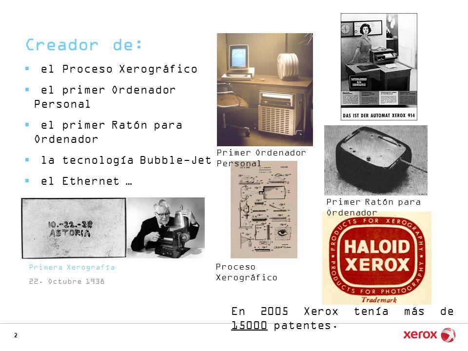 Creador de: el Proceso Xerográfico el primer Ordenador Personal