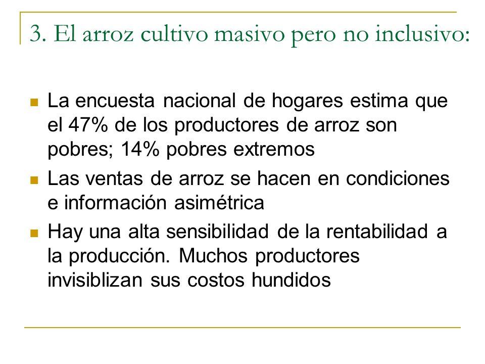 3. El arroz cultivo masivo pero no inclusivo: