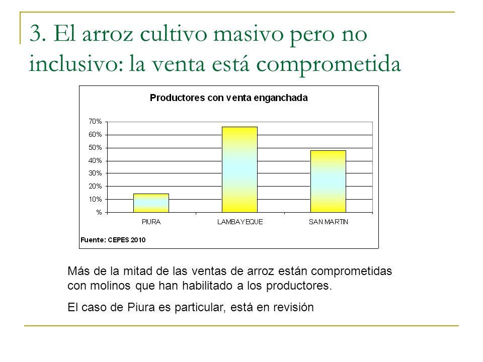 3. El arroz cultivo masivo pero no inclusivo: la venta está comprometida