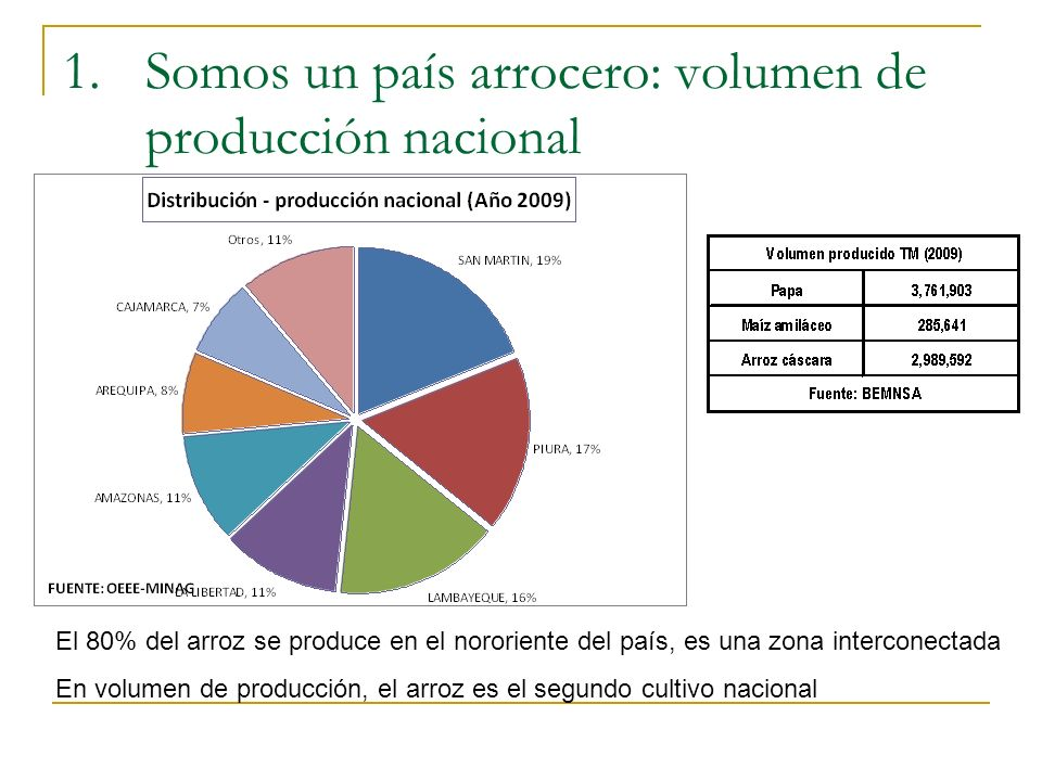 Somos un país arrocero: volumen de producción nacional