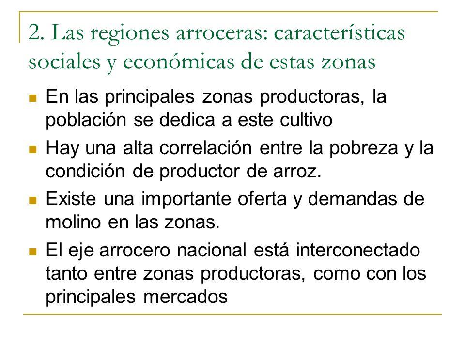 2. Las regiones arroceras: características sociales y económicas de estas zonas